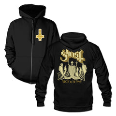 Black To The Future Gold Zip Hoodie