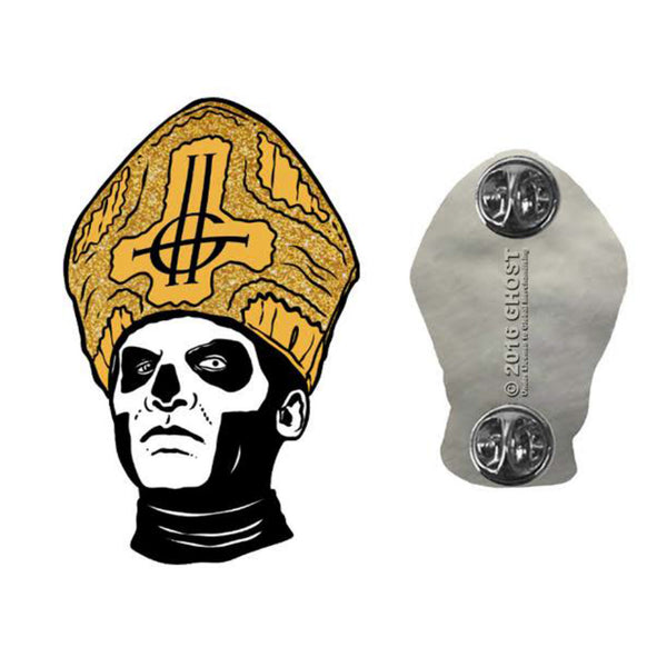 Papa Emeritus Enamel Pin Gold Flake