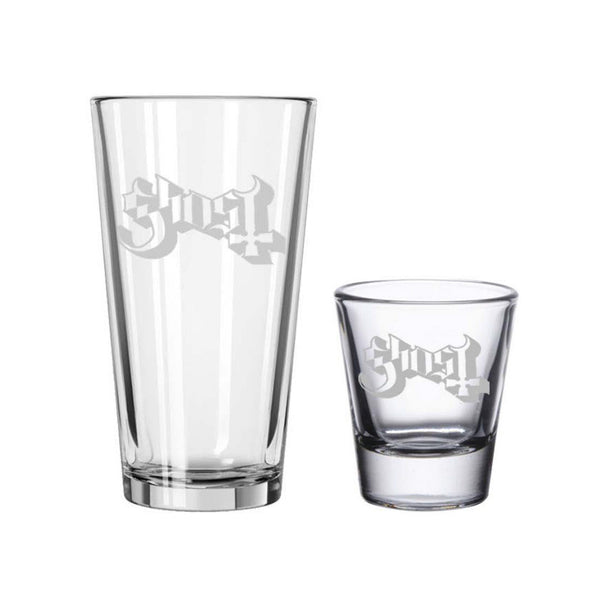 Etched Pint & Shot Glass Bundle