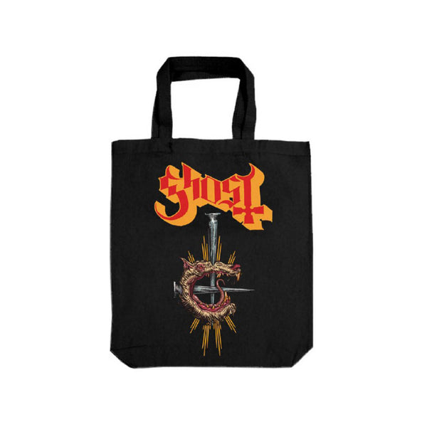 Rat Grucifix Black Canvas Tote