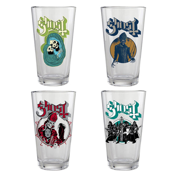 4pc GHOST PINT GLASS SET