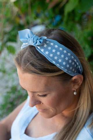 Ava Headband - Powder Blue
