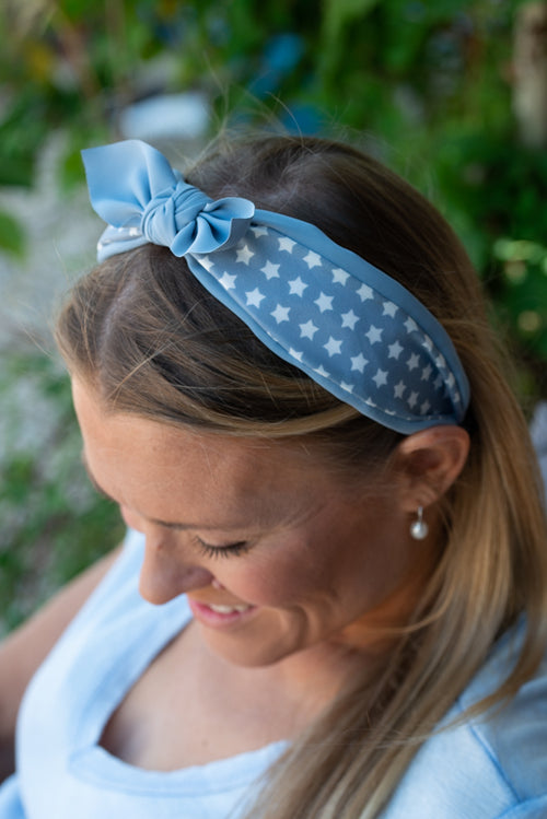 Anais Headband - Smokey Blue