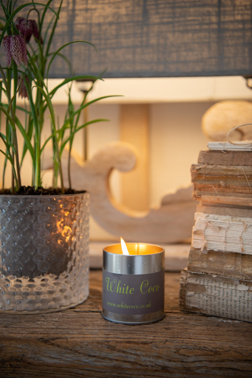 White Coco Scented Candle - Two scents available