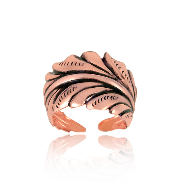 Fancy Leaf Ring - Copper - Our Nation's Creations