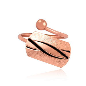Twist Inlay Bypass Ring - Copper - Our Nation's Creations
