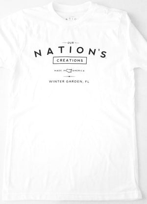 Unisex Our Nation's Creations T-Shirt White - Our Nation's Creations