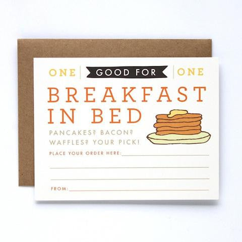 Card ~ Breakfast In Bed