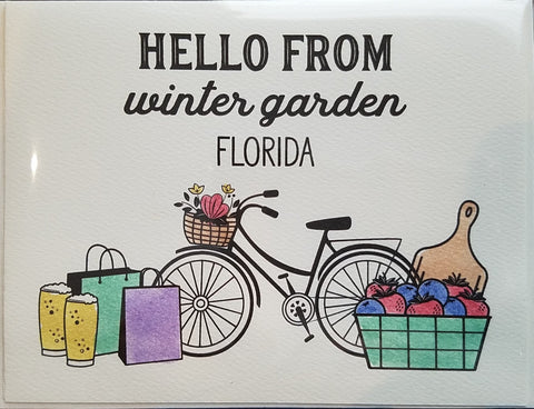 Card ~ Hello from Winter Garden - Our Nation's Creations