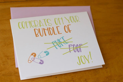 Card ~ Congrats on Your Bundle - Our Nation's Creations