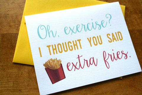 Card ~ Extra Fries - Our Nation's Creations