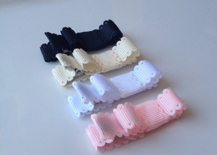 Hair Clip ~ Eyelet Ribbon (4) - Our Nation's Creations