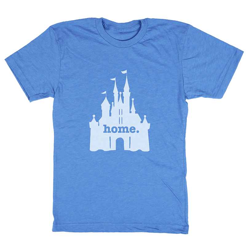 Home T Castle Blue T-Shirt - Our Nation's Creations