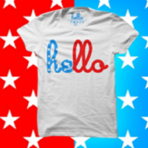 Kids hello Red White & Blue T-Shirt - Our Nation's Creations