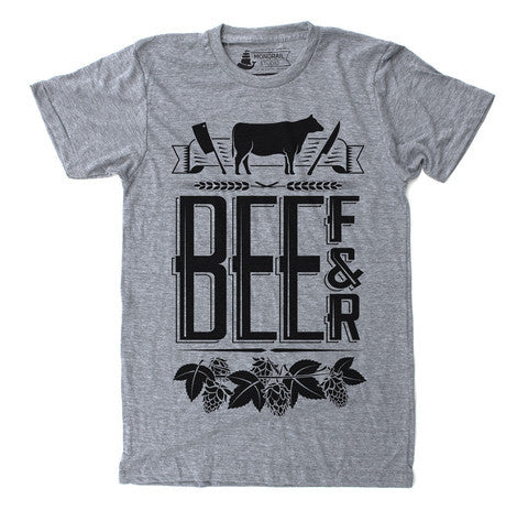 Unisex T-Shirt Beef and Beer Heather Grey