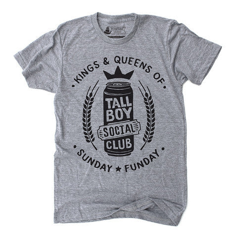 Unisex T-Shirt Tall Boy Social Club Grey - Our Nation's Creations