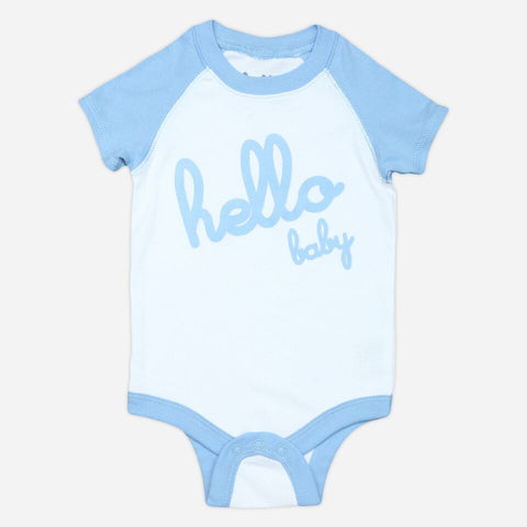 Onesie ~ Hello ~ Blue - Our Nation's Creations
