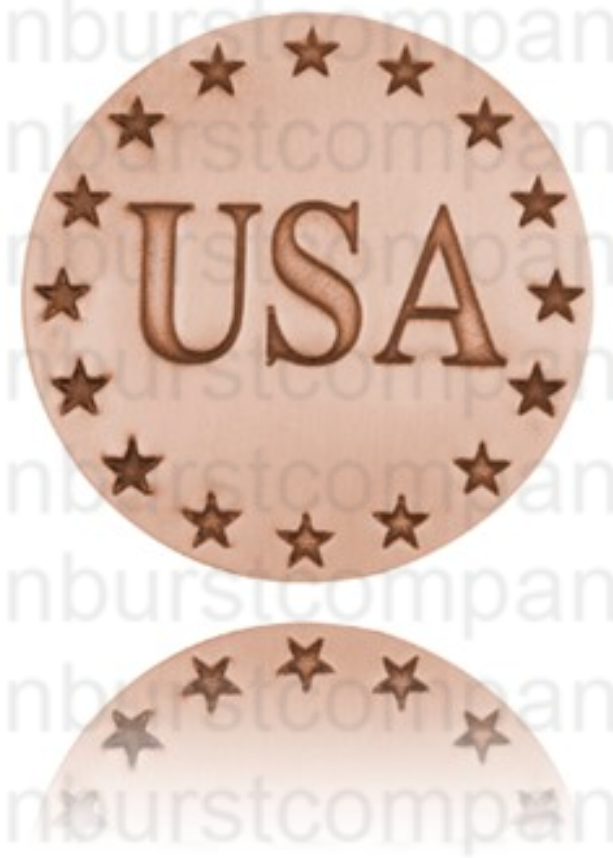 USA and Star Pin - Copper - Our Nation's Creations