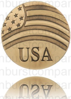 USA and Flag Pin - Brass - Our Nation's Creations