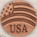 USA and Flag Pin - Copper - Our Nation's Creations