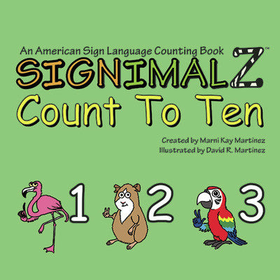 Signimalz Sign Langauge Count to Ten Book - Our Nation's Creations
