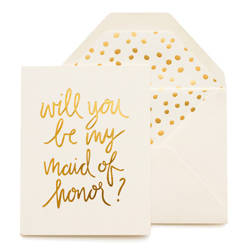 Card ~ will you be my maid of honor? - Our Nation's Creations