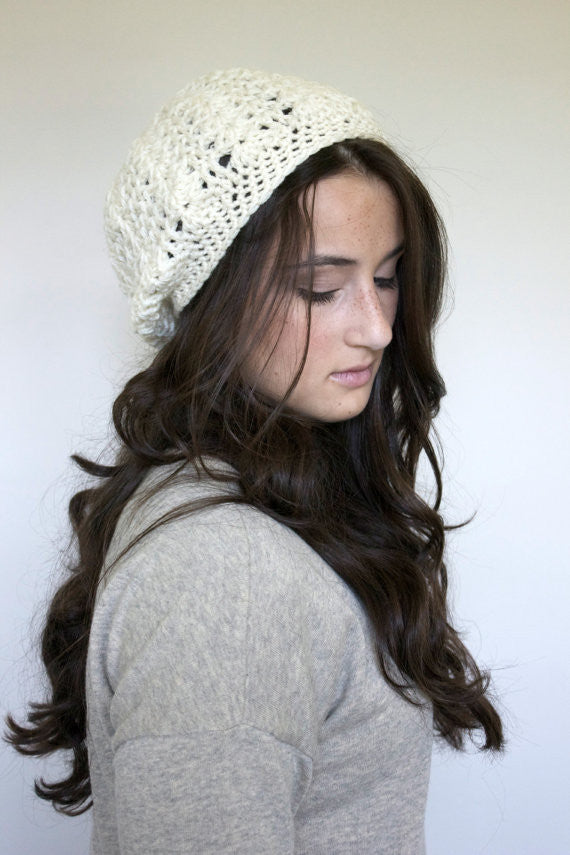 Women's Handcrafted Knit Slouchy Hat - Our Nation's Creations
