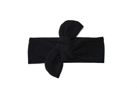Headband Knotted Black - Our Nation's Creations