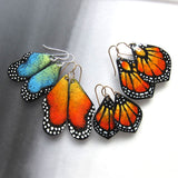 enameled butterfly earrings in a variety of sizes
