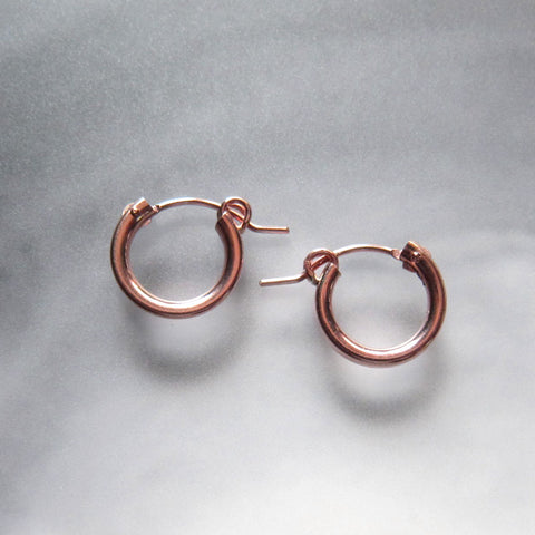 14K Small Rose Gold Filled Hoop Earrings