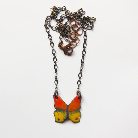 Small Enamel Butterfly Necklace