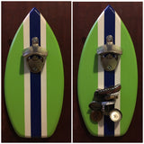 Surfboard Bottle Opener With Magnetic Cap Catcher
