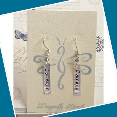 Sterling Silver Courage Earrings