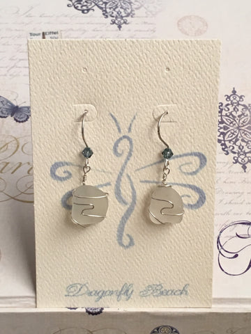 Sterling Silver Sea Glass Earring