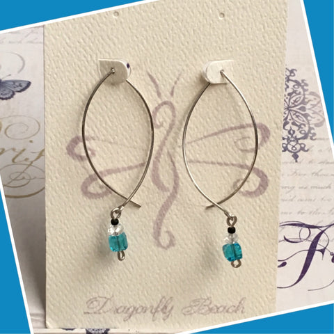 Hand bent Sterling Silver Earrings