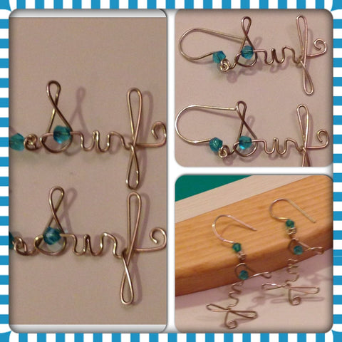 "Handmade Sterling Silver ""Surf"" Earrings"