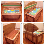 Custom Handmade Toy Bench / Box - FREE U.S. SHIPPING