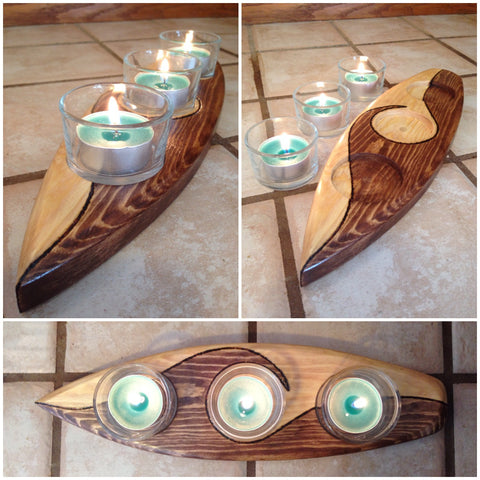 Surfboard Candle Holder - FREE U.S. SHIPPING