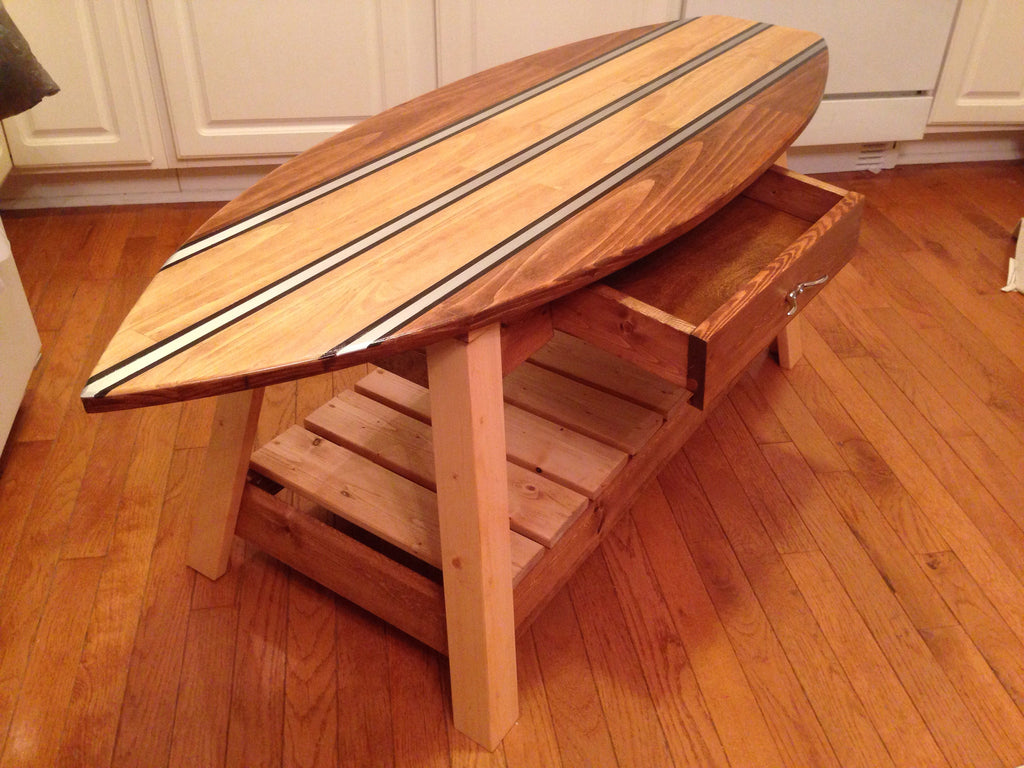... Custom Surfboard Coffee Table With Removable/Interchangeable Top   FREE  SHIPPING Within The U.S. ...