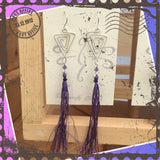 Purple Sterling Tassel Earrings