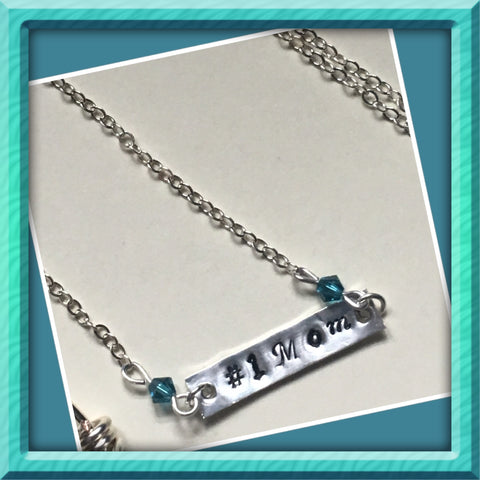 Sterling Silver #1 Mom Necklace
