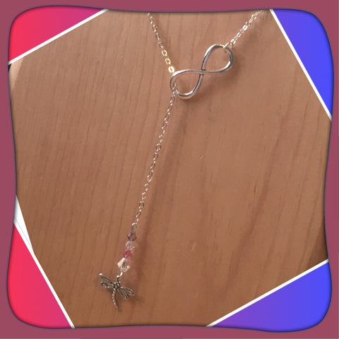 Dragonfly Infinity Necklace