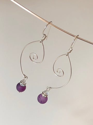 Tear Drop Sterling Earrings