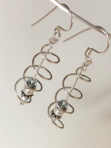 Spiral Sterling Earrings