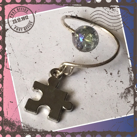 Sterling Silver puzzle piece charm ring