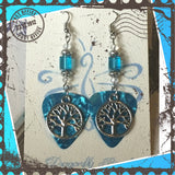Tree of life Guitar Pick Earrings