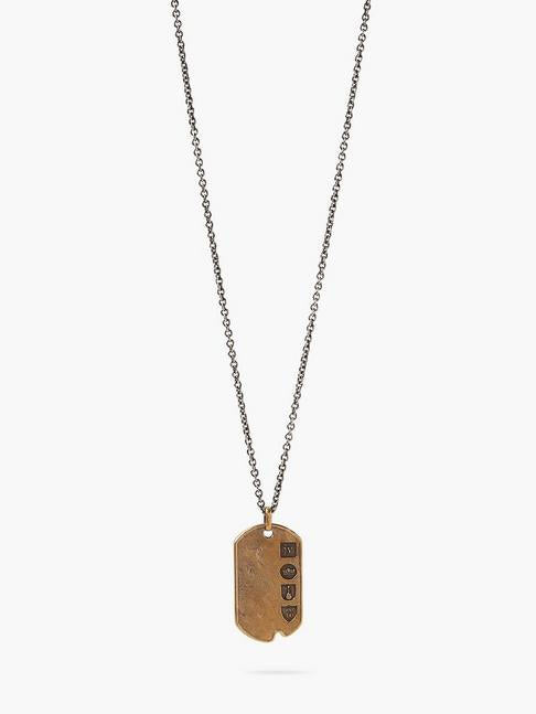 John Varvatos Dogtag Pendant and Chain
