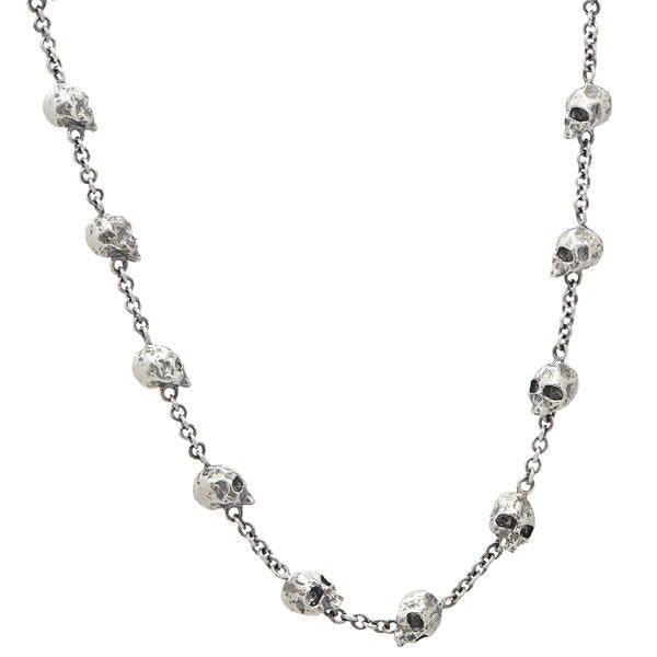 John Varvatos Skull Station Necklace