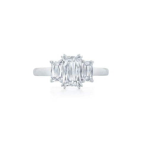Platinum 3 Ashoka Diamond Ring