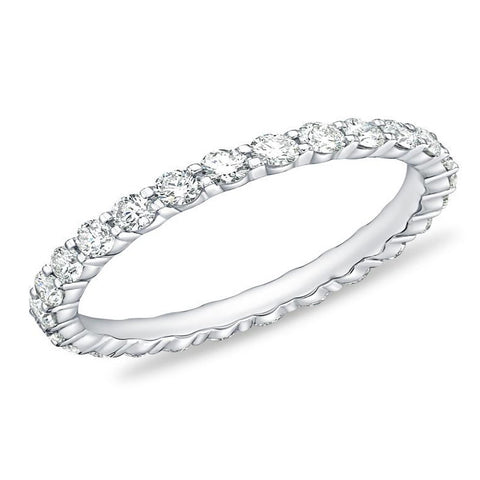 18K Petite Prong®Diamond Eternity Band